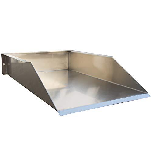 Köhko Grillplatte/Plancha Bratplatte Grillblech Edelstahl Massiv 40 x 26 cm Universalgröße