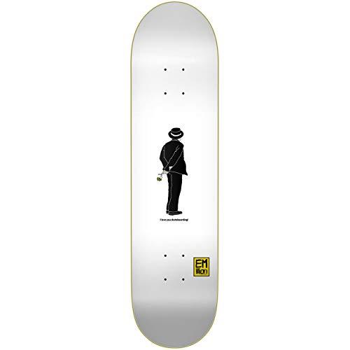 Emillion Skateboard Deck Love You Skate, Größe:8.25, Farben:i Love You Skateboarding