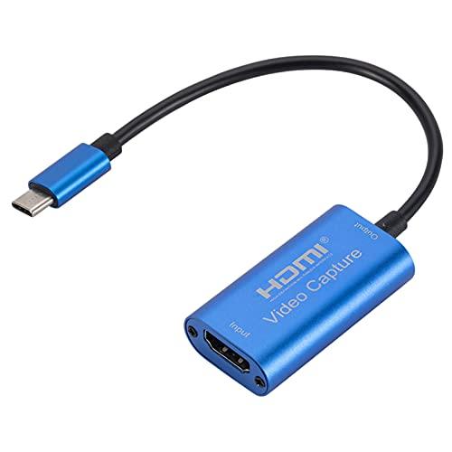 MERIGLARE Adaptador USB C a HDMI Tarjeta de Captura de Video Compatible para teléfonos, Oficina, Juegos, transmisión en Vivo, compatibilidad con Windows para