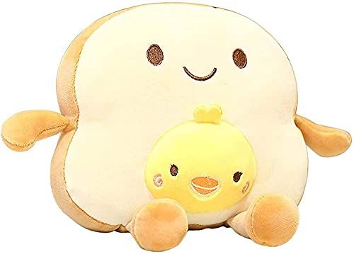 Sliced Toast Bread Pillow - Bread Shaped Plush Sofa Cushion Stuffed Doll Toy - for Kids Adults Bed Room Decor-B.