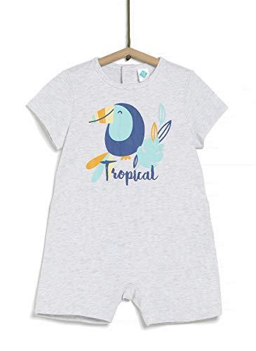 TEX - Pijama Corto Estampado Unisex, Gris Plateado Claro, 18 Meses