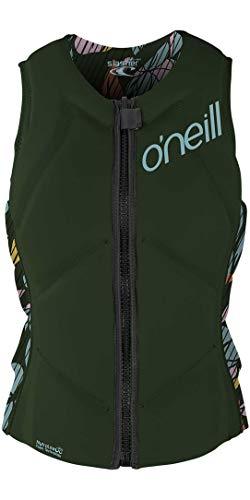 O';Neill Damen Slasher Comp Wassersport Waterski Jetski Wakeboarden Safety Impact Weste - Top - Dark Olive Baylen