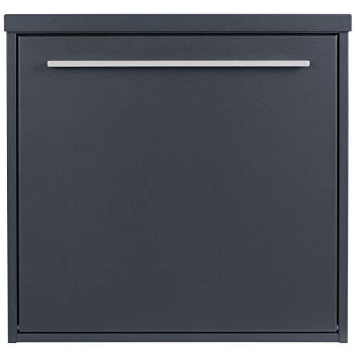 Design-Briefkasten anthrazit-grau (RAL 7016) MOCAVI Box 99 Postkasten modern, matt, rostfrei, deutsche Qualität, Din A4