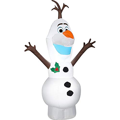 Gemmy 4FT Tall Christmas Olaf Inflatable Indoor/Outdoor Holiday Decoration