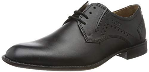 FRETZ men Herren Tosco Derbys, Schwarz (Noir 51), 47 1/3 EU (12 UK)