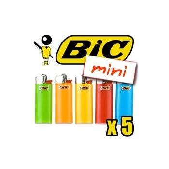 Mechero a prueba de niños, pequeño BIC, varios colores, 5 unidades: Amazon.es: Hogar