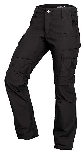 LA Police Gear Women's Mechanical Stretch Ops Tactical Cargo Pants - Black-12-REGULAR