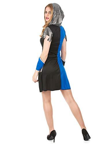 Blaues Ritter-Kostüm für Damen - 2