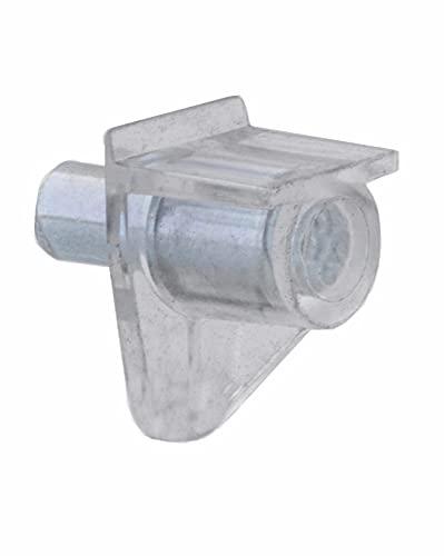 Bodenträger 5mm Kunststoff transparent mit Stahlstift Bodenträger für Regale (20 Stück)