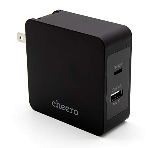 cheero『2 port PD Charger USB-C PD 45W + USB-A(CHE-328)』