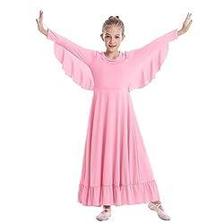 Girls Angel Isis Wings Worship Liturgical Praise Dance Dress