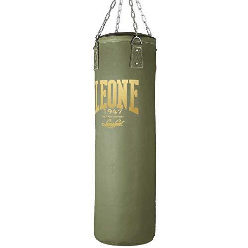 LEONE 1947 At841G, Sacco da Boxe Unisex Adulto, Verde Militare, 30 kg