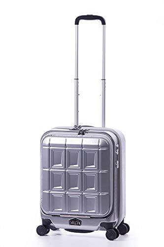 A.L.I アジアラゲージ ストッパータイプ スーツケース 機内持ち込み可能 PANTHEON (34L) PTS-5006 (シルバー)