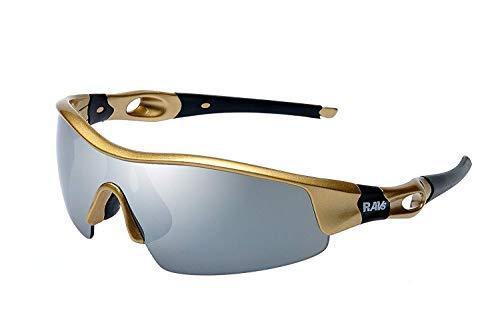 Ravs - Uni HIGH SPORTBRILLE - RADBRILLE -Triathlon - Beach Volleyball - Extrem Kitesurf - Berg Gletscher -Sonnenbrille - Gold