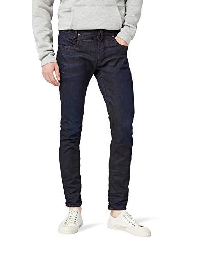 G-STAR RAW Herren D-STAQ 5-Pocket Slim Jeans, Blau (dk Aged 7209-89), 32W / 34L