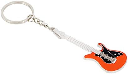JIUMX Guitar Keychain for Men Mini Key Chain Ring for Kids High end Car Keyring Electric Guitar product image