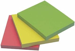 Q-Connect - Bloc De Notas Adhesivas Quita Y Pon 40X50 Mm Neón Pack De 3 Unidades Con 50 Hojas Por Color