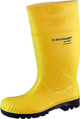 Dunlop Acifort ,Gummistiefel,Regenstiefel,Arbeitsstiefel,Freizeitstiefel (42, gelb)