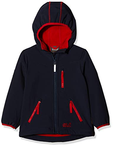Jack Wolfskin Jungen Whirlwind Jacket Boys Softshelljacke, Night Blue, 164