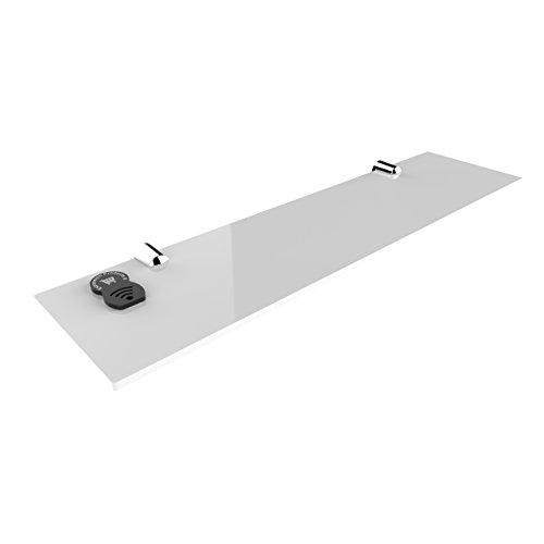 Estantes de seguridad acrílicos para el baño, habitación u oficina (400 x 100 mm)