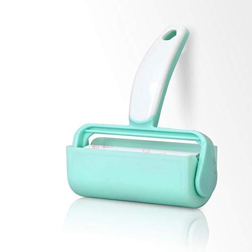 NoNo Haushalt Lint Haarentferner Kleidung Sticky Dust Roller Pinsel Reiniger Roller Pinsel Haustier Haarentferner Pinsel Werkzeug 浅绿【1柄9卷】