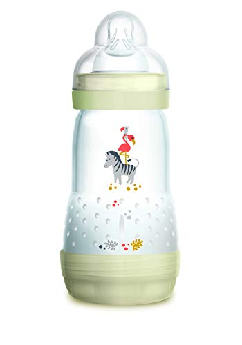 Mam, Biberon anticoliche, 0-6 mesi, flusso tipo 2, Bianco (Blanc), 260 ml