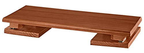 OakRidge Compact Portable Footrest, Collapsible Legs for Storage or Travel, Mahogany Wood Finish