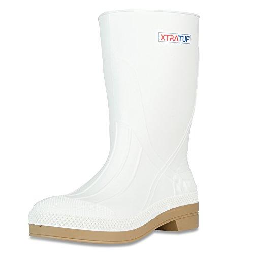 XTRATUF 11' Men's PVC Shrimp Boots, White (75136), size 8