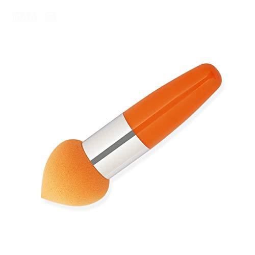 WEKDU Mélangeur Beauté/Teint Poudre crème Maquillage éponge brosse, cosmétiques beauté douce Puff lisse visage Make Up outil Pinceau, 1Pcs (Couleur : A Orange, Size : One Size)