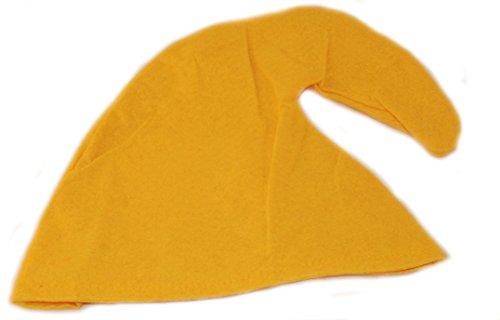 Scherzwelt Zwergenmütze in gelb für Erwachsene - Zwergen Hut Mütze Zwergenkostüm