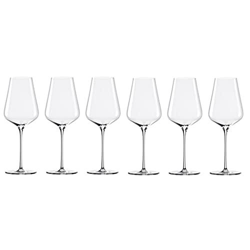 MQH Copas de Vino Copas de Vino de Cristal Italiano - Copas de Vino de 650 ml para Fiestas, Bodas, Regalos, Copa de Vino Transparente para Rojo y Blanco Copas para Vino (Color : 650ML*6)