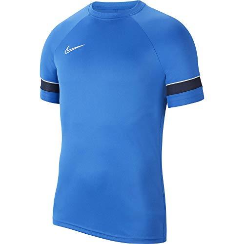 NIKE Camiseta de Entrenamiento Academy 21 para Hombre, Hombre, Camiseta, CW6101-463, Azul/Blanco/Negro, Large
