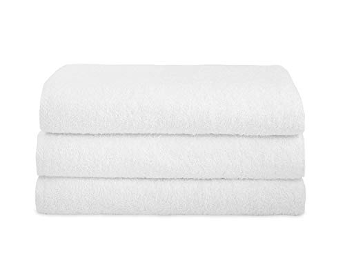 Classic Turkish Cotton 3 Piece White Bath Sheet Set - Thick and Soft Terry Cloth Oversized Extra Large Bath Towels Made with 100% Turkish Cotton 30 x 60 inch