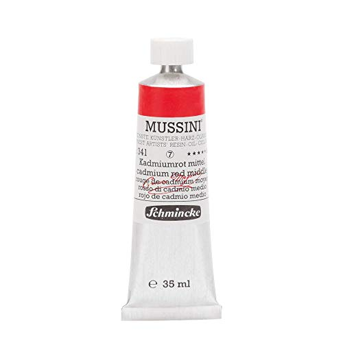 Schmincke Mussini: Oleos: 35ml. Pomo Series 7: Rojo Cadmio Medio