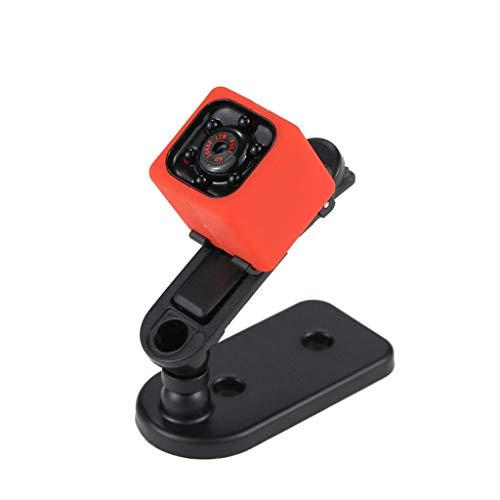 Mini Kamera Überwachungskamera 1080p HD Camera Tragbare Kleine Kamera mit Videokamera Mikro Nanny Cam mit Bewegungserkennung und Infrarot Nachtsicht -Rot blau (Rot)