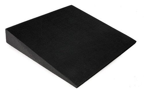 softX zitkussen, rechthoekig, wigvormige kussen, fitness therapie, kleur zwart, zitwig