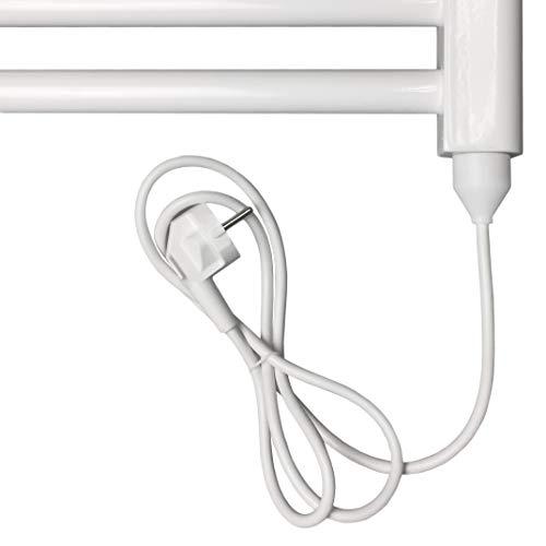 Heizstab Heizpatrone Heizelement aus Edelstahl für Heizungen Heizkörper Badheizkörper Handtuchtrockner mit Stecker (900 Watt)