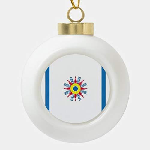 onepicebest - Sfera natalizia in ceramica con bandiera caldea, decorazione natalizia per palline di Natale, palline di ceramica, decorazioni per albero da appendere