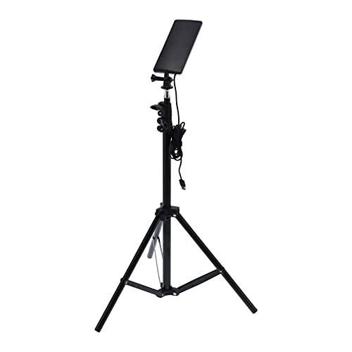 Seacanl Lámpara de alimentación USB telescópica, lámpara de cámara telescópica, Soporte Ajustable de Peso Ligero para reparación de automóviles, Escalada, Senderismo