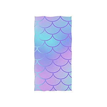 Cooper girl Cool Mermaid Scale Hand Towel Cotton Bathroom Towel for Hand Face Gym Spa