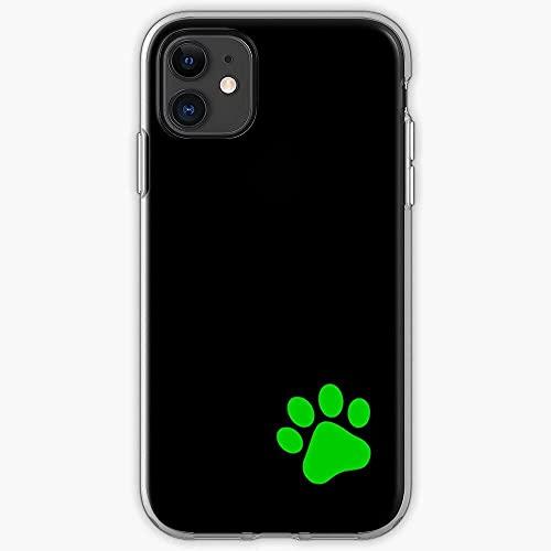 Jinfugongmao Compatible con iPhone 12/11 Pro MAX 12 Mini SE X/XS MAX XR 8 7 6 6s Plus Funda Green Chat Noir Miraculous Black Cat Paw Ladybug I Trendy- Cajas del Teléfono Cover