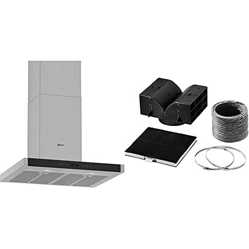 Neff D65BMP5N0 Dunstabzugshaube N70/ 60cm/ Abluft oder Umluft/Energieeffizienz A/Edelstahl und Z5101X5 Dunstabzugshaubenzubehör/Starterset für Umluftbetrieb