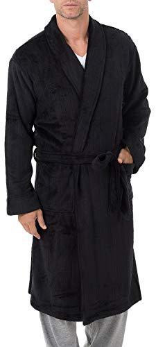 Jockey Herren Drop-Needle Comfort Soft Robe Bademantel, Caviar, Einheitsgröße
