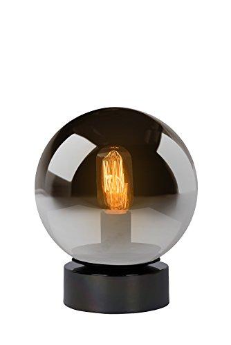 Lucide 45563/20/65 Lampe de Table, Verre, E27, 60 W, Fumé