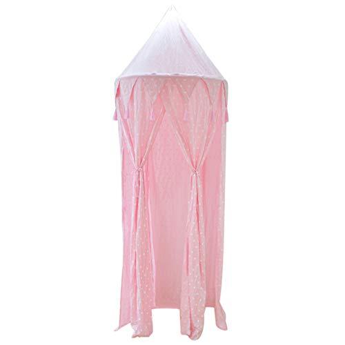 Tents Style Princesse dôme, Plafond Respirante Chambre d'enfant Suspendu moustiquaire Lit à baldaquin de Couvre-lit/Bleu, Rose (Color : Pink, Size : 80 * 240CM)