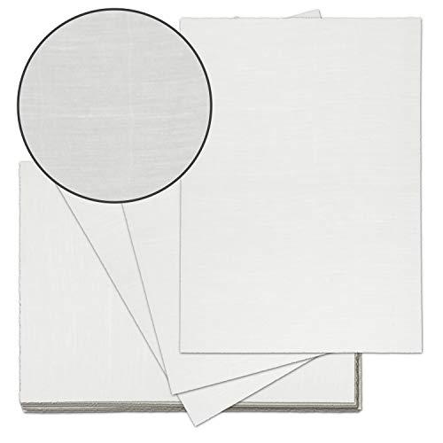 25x echt Bütten-Papier ca. A4 edles Brief-Papier - unregelmäßig wild-gerippt - Vintage-Papier handgemacht, Naturweiß, 115 g/m² - von Zerkall Bütten