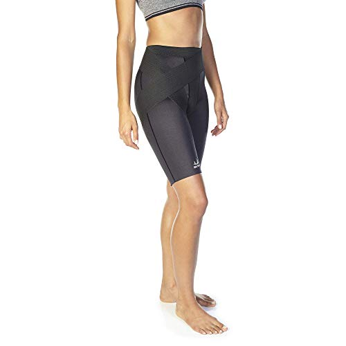 BioSkin Compression Shorts - Medical Grade Recovery Compression for Hamstring, Thigh, and Groin Injuries - Additional Groin Wrap for targeted Support - (Small)