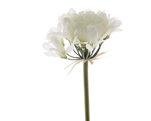 Blume Seidenblume Lilie Schmucklilie weiß 60 cm