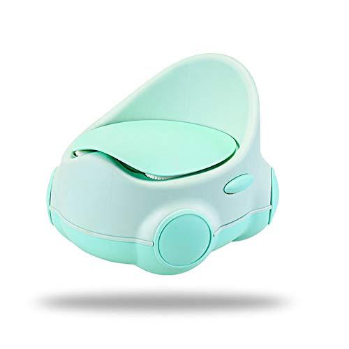 Z-SEAT Toilette Vasino da Allenamento, Sedile da Vasino con Design Split, Schienale Rialzato E Cuscino Morbido in PU, Facile da Pulire,Verde