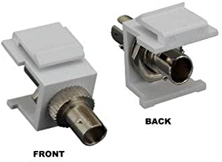 Kentek Fiber Optic ST Simplex Keystone Modular Jack Adapter Coupler Multimode